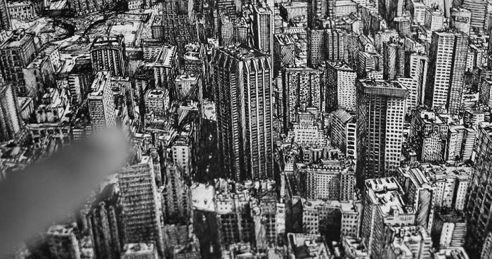 Architecture Student Spends 10 Months Drawing New York City In Incredible Detail