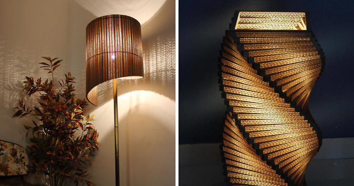 We Make Cardboard Lamps That Combine Our Love For Art And