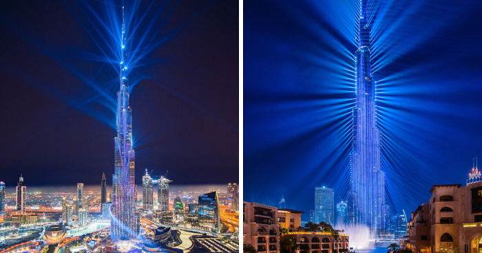Dubai's World Record Laser Show In Pictures