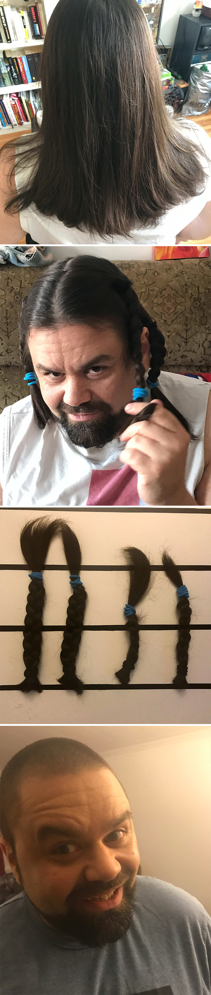 Ten Years Cancer Free! I Had Made My Hair Grow To Give It To Charity. I'll Be Back With More Hair In Two Years!