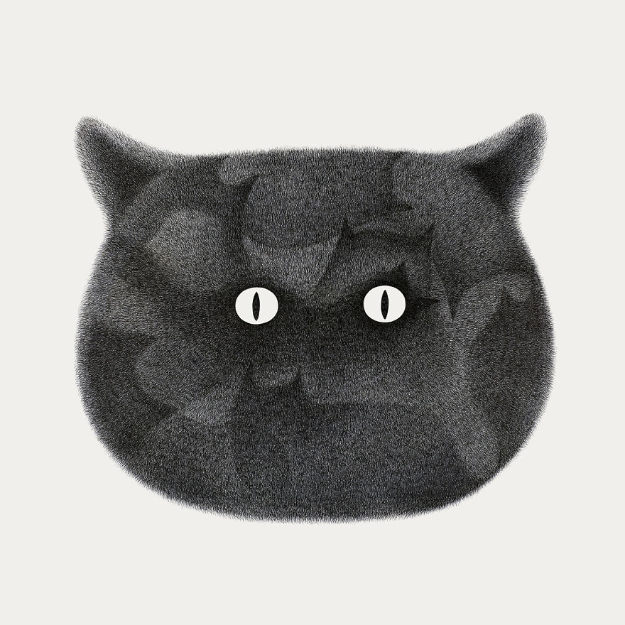 Malaysian Artist's Puffy Cat Drawings Are Just Adorable arts  Arts 2018