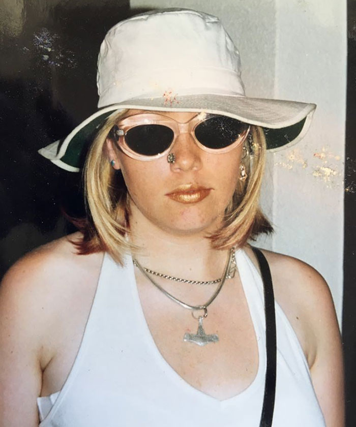 I Was About 18 Years Old, And Heading Out For A Night On The Town. Please Note The Nose Ring- It Was Stuck On With Superglue