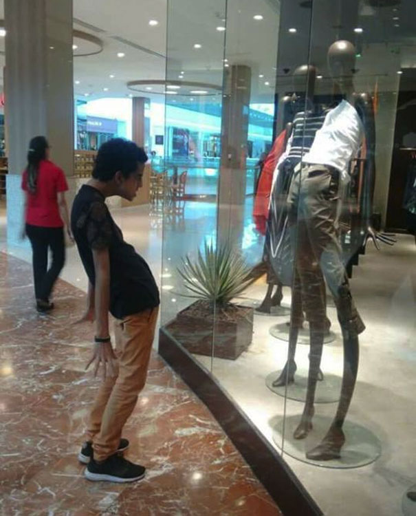 जब कपड़े की दुकान आपका आकार है