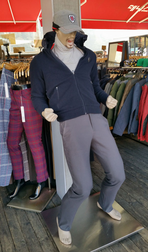 This Hyped Up Mannequin