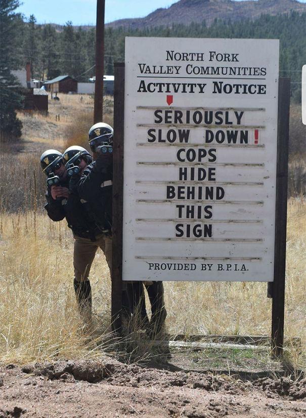 Cops? Where?