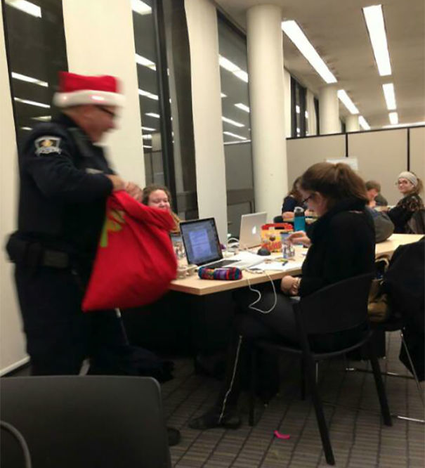 "Cop Came Into My University's Library With Candy Canes Shouting ""Ho Ho Ho From The Po Po Po"""