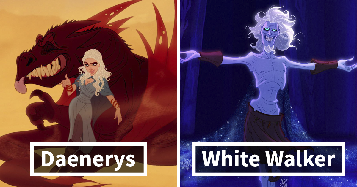 This Is How 'Game Of Thrones' Would Look Like If Disney Illustrated Them