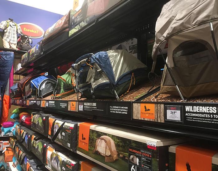 Tiendas de campaña diminutas para ver lo que estás comprando