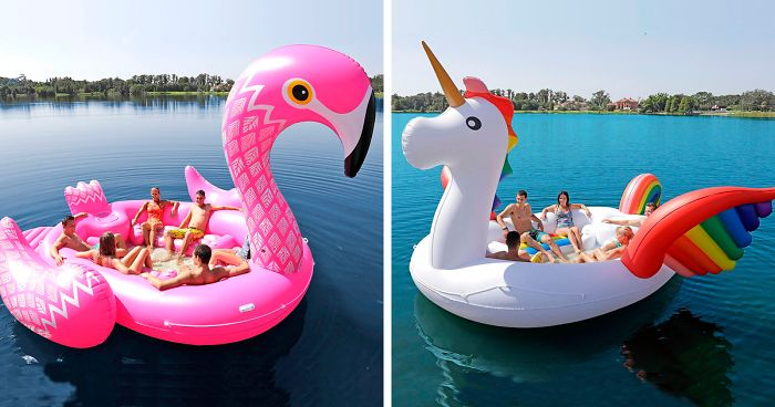 This Giant Inflatable Unicorn Worth 150 Holds Up To Six