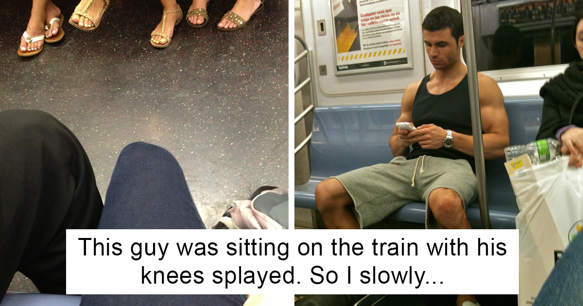 Woman Sick Of Men Spreading Legs In Subway Gets Revenge, And Here's How Men Respond