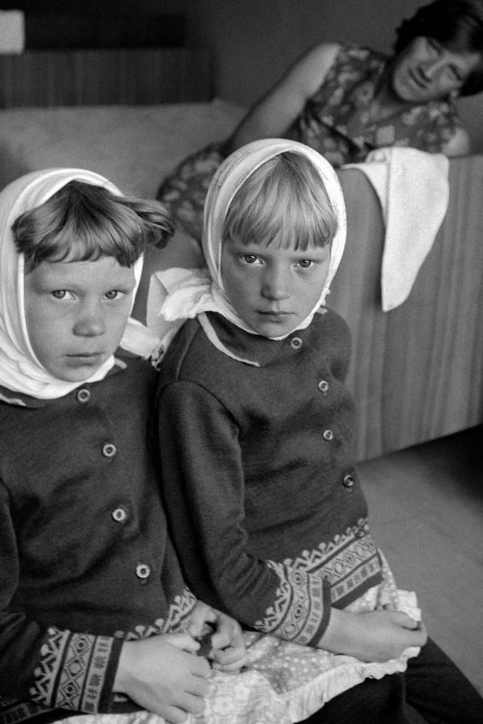 Dos niñas en Vologda, 1979