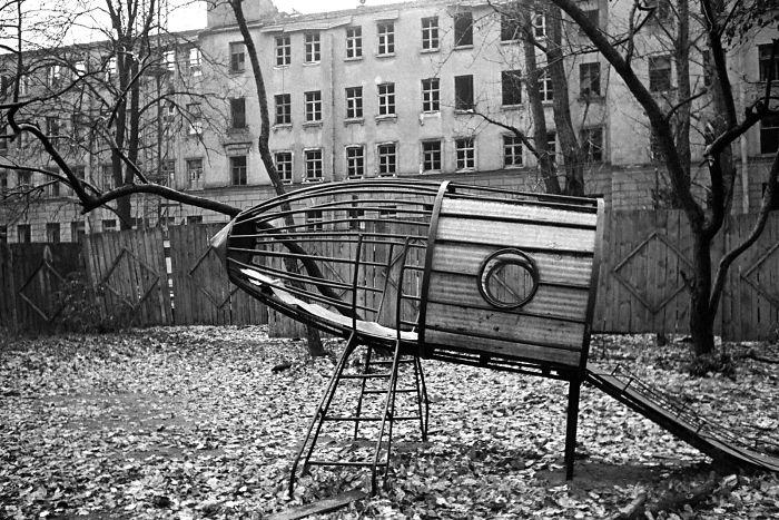 Parque de juegos de temática espacial en Leningrado