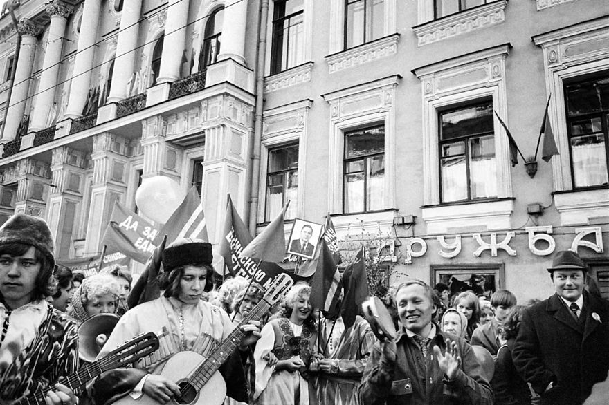 Nevsky Prospekt, Leningrad, USSR, 1975