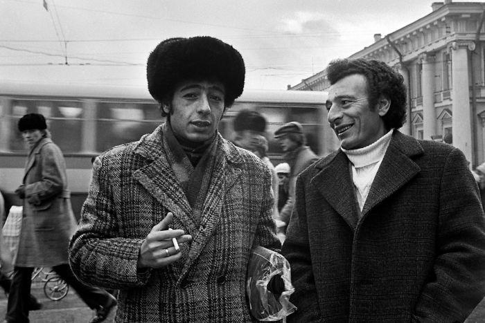 Retrato callejero en San Petersburgo, 1976