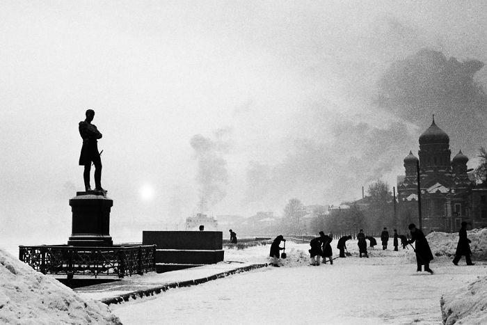 Orillas del río Neva en Leningrado, 1979