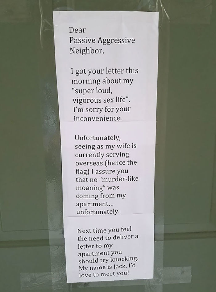 This Was Posted On My Neighbor's Door This Morning
