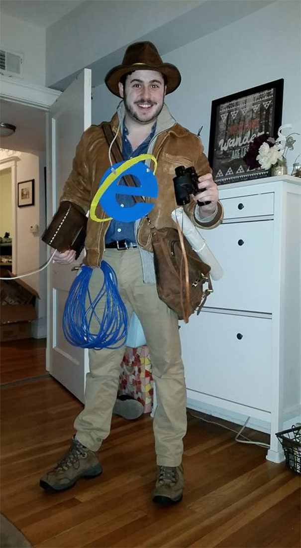 My Friend Went As The Internet Explorer For Halloween
