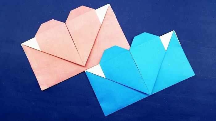 Origami Envelope Heart – Origami Valentine's Day Gift Card Envelope