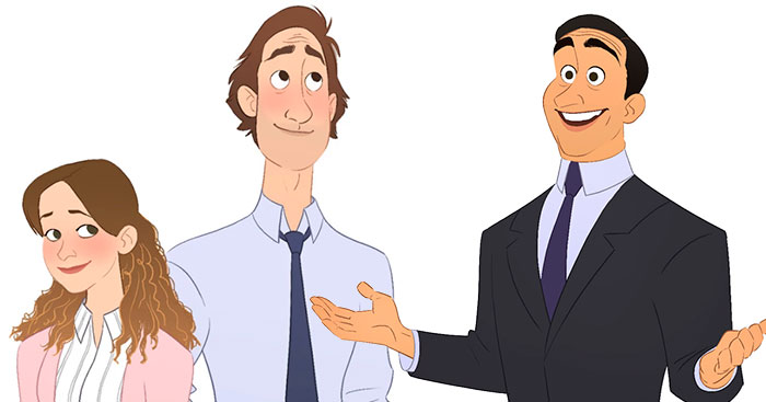If 'The Office' Was A Cartoon