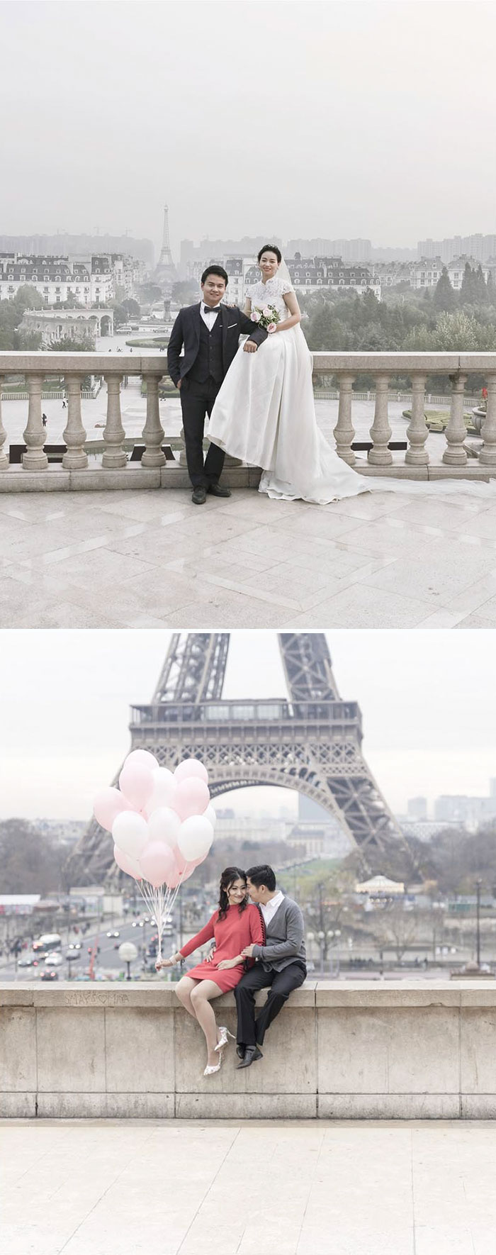 Top: China, Bottom: Paris