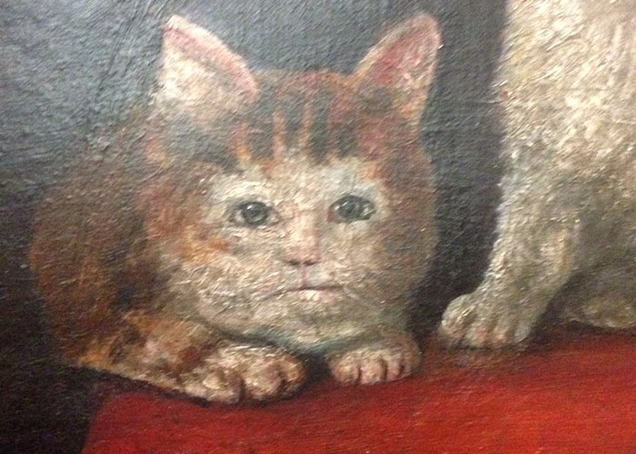 Someone Noticed How Ugly Medieval Cat Paintings Are, And It's Too Funny (60 Pics)
