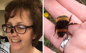 Woman Saves Wingless Bumblebee And Their Friendship Creates Buzz On The Internet