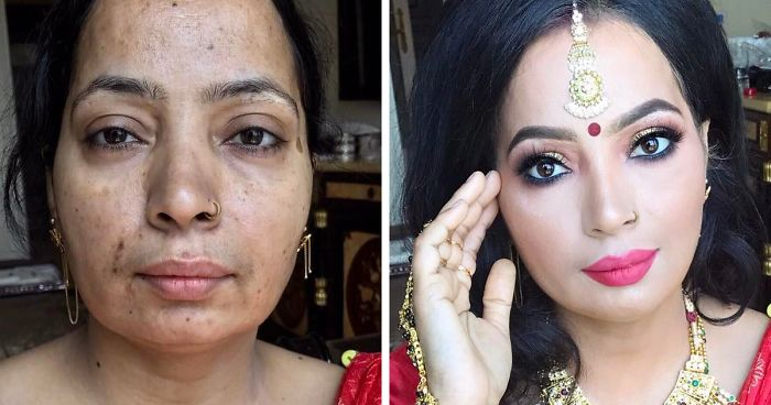 """20+ Incredible Makeup Transformations That Prove """"Every Woman Is A Hollywood Star"""""""