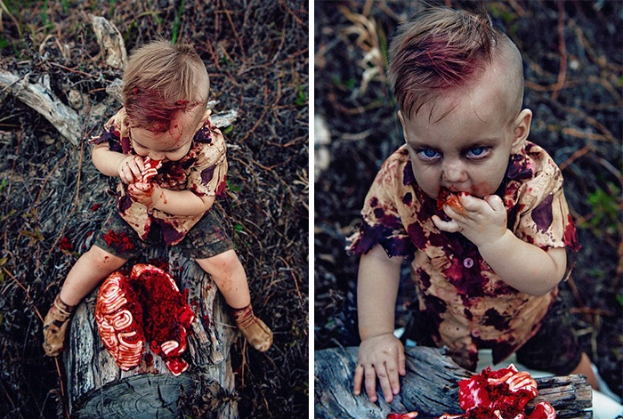 Mom Gets Criticized Over Son's Zombie Cake Photo Shoot, Reveals The Heartbreaking Secret Behind It