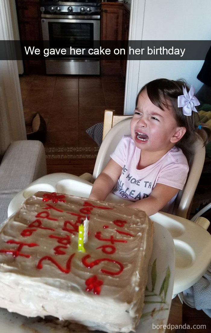 We Gave Her Cake On Her Birthday