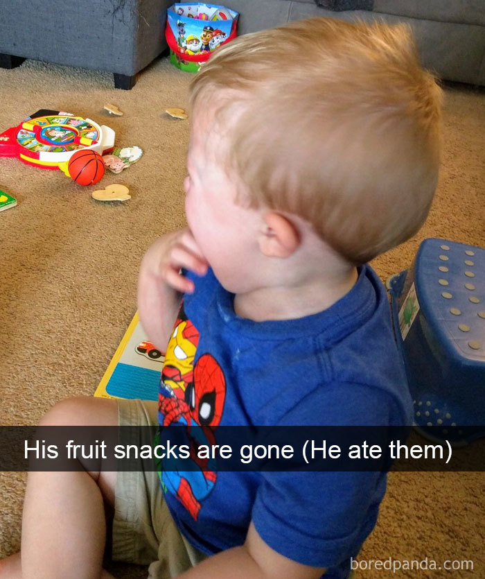 His Fruit Snacks Are Gone (He Ate Them)