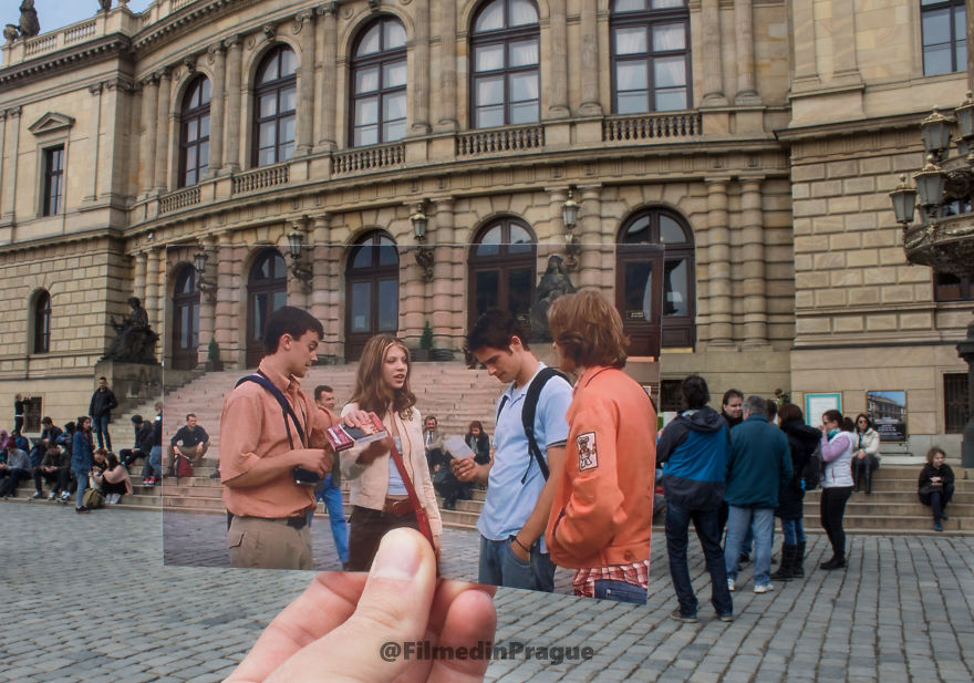 Eurotrip (2004) This Places Supposed To Be Paris In The Movie But In Reality Is In Front Of The Rudolfinum In Prague