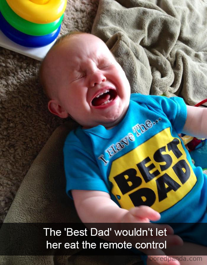The 'Best Dad' Wouldn't Let Her Eat The Remote Control