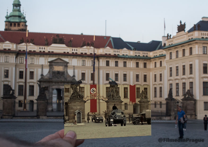 Anthropoid (2016) In This Scene Nazi General Reinhard Heydrich Is Coming Back To Prague Castle From His Trip