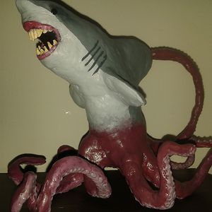I Made A Sharktopus Figurine For My Sister's Birthday - My First Time Using Modelling Clay.