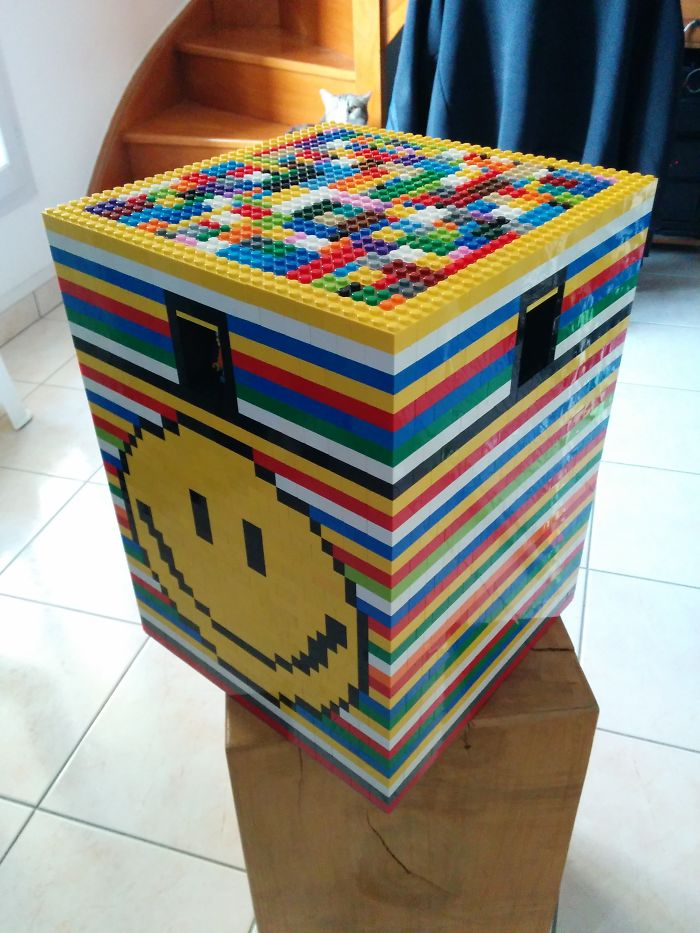 I Made A Lego Seat – 100% Filled With Bricks – It Took Me One Day (And Blisters)