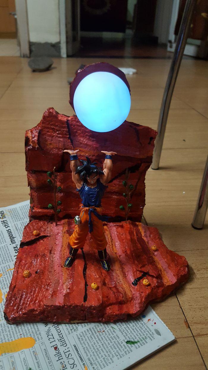 Made A Spirit Bomb Lamp For My Boyfriend