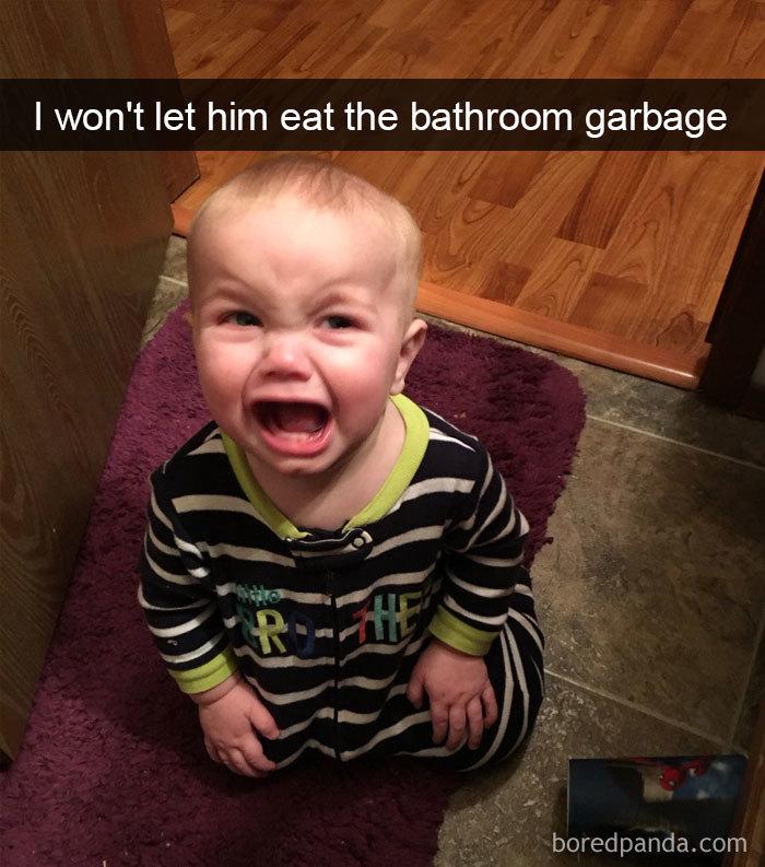 I Won't Let Him Eat The Bathroom Garbage