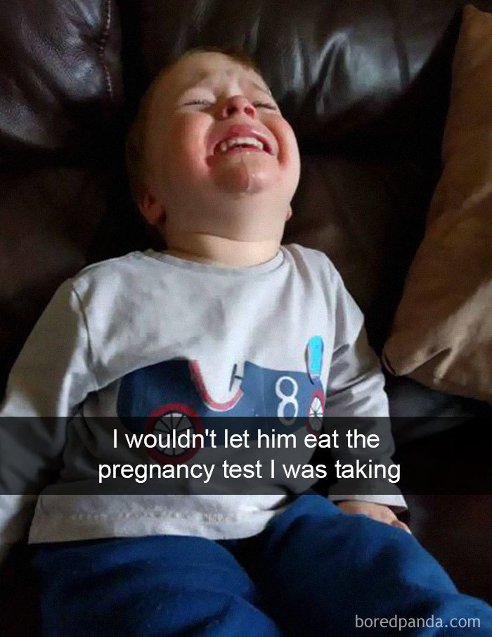 I Wouldn't Let Him Eat The Pregnancy Test I Was Taking