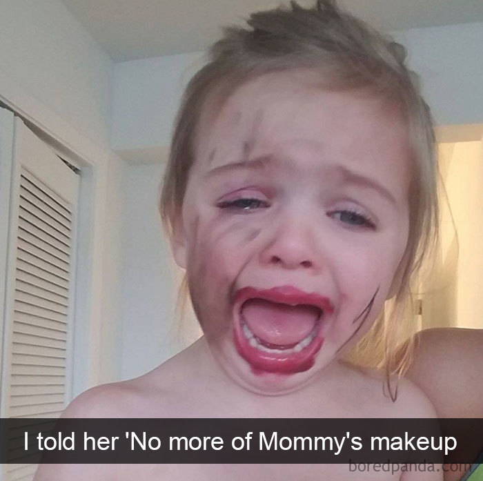 I Told Her 'No More Of Mommy's Makeup