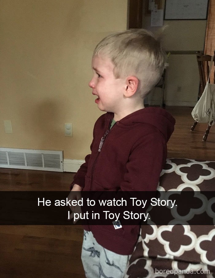 He Asked To Watch Toy Story. I Put In Toy Story