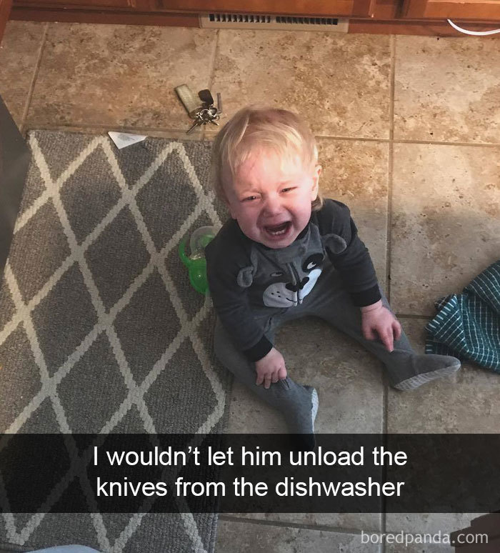 I Wouldn't Let Him Unload The Knives From The Dishwasher