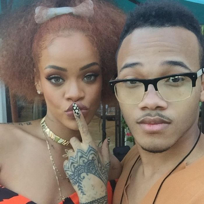 Rihanna With Her Brother Rajad Fenty