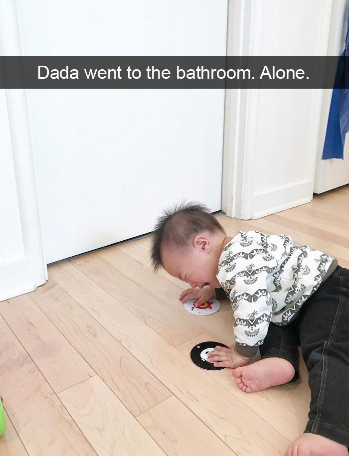 Dada Went To The Bathroom. Alone.