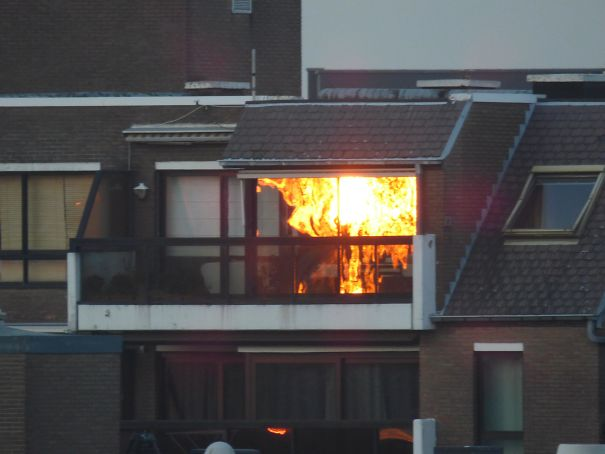 Sunset Reflection Looks Like Demonic Uprising