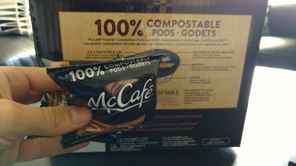 100% Compostable Pods. 0% Compostable Packaging. Good One Mcdonald's