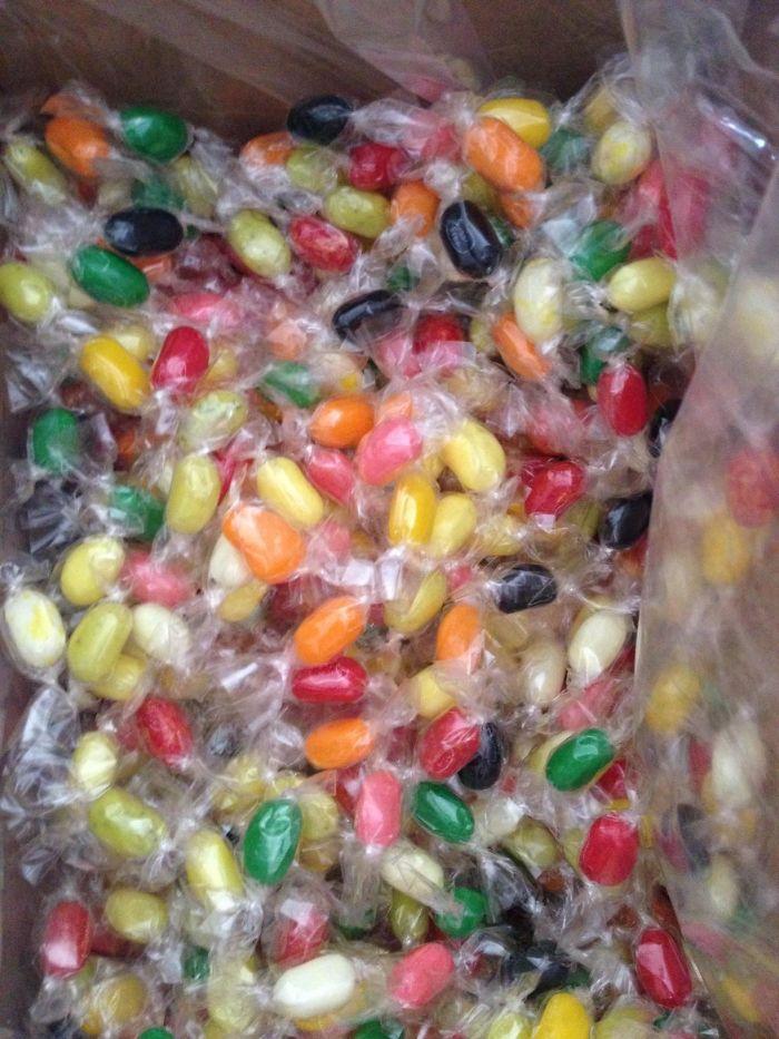Encargué 2 kilos de Jelly Belly y llegaron envueltos individualmente, ¿por qué?