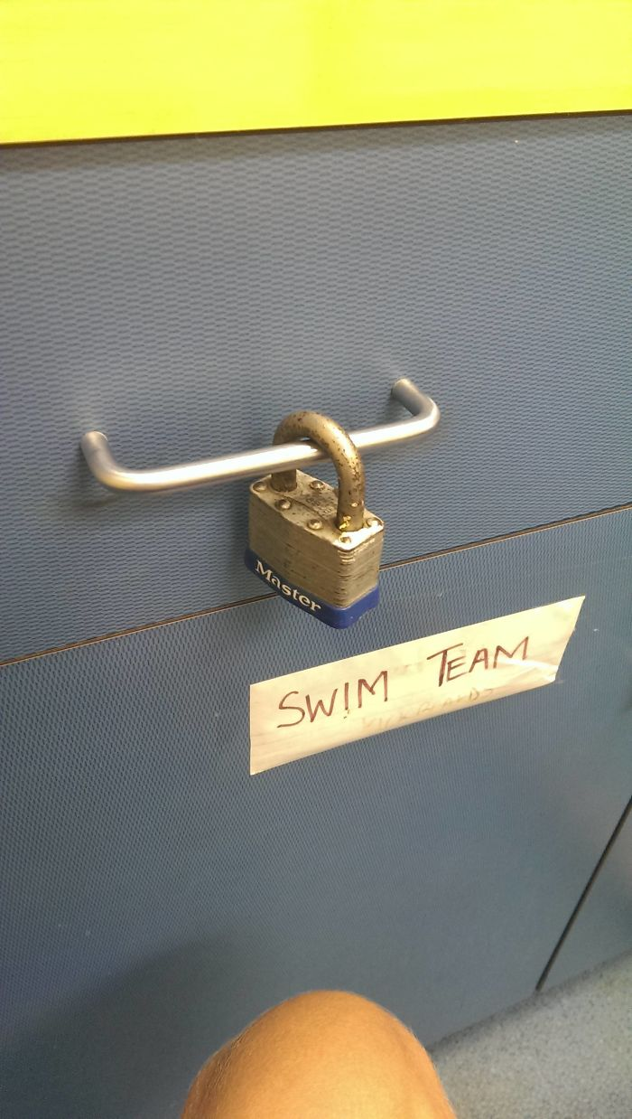 I'm A Lifeguard. My Boss Gave Me A Key To Open This Drawer, Then Started Laughing Hysterically When I Tried Unlocking It. I Didn't Realize Why Until Now