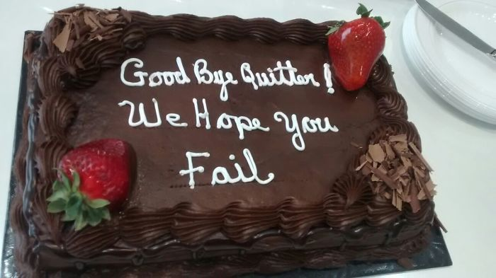 My Girlfriend Got A New Job. Cake From Her Old Boss
