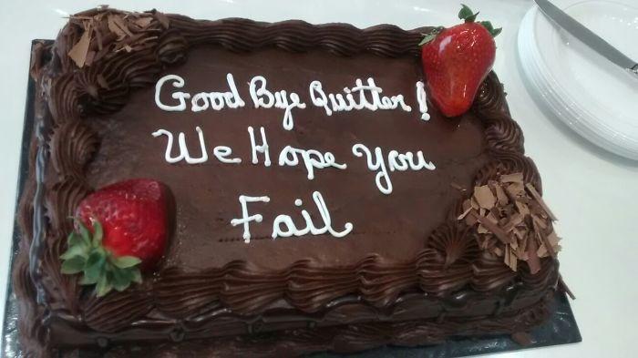 My Girlfriend Got A New Job. Cake From Her Old Boss