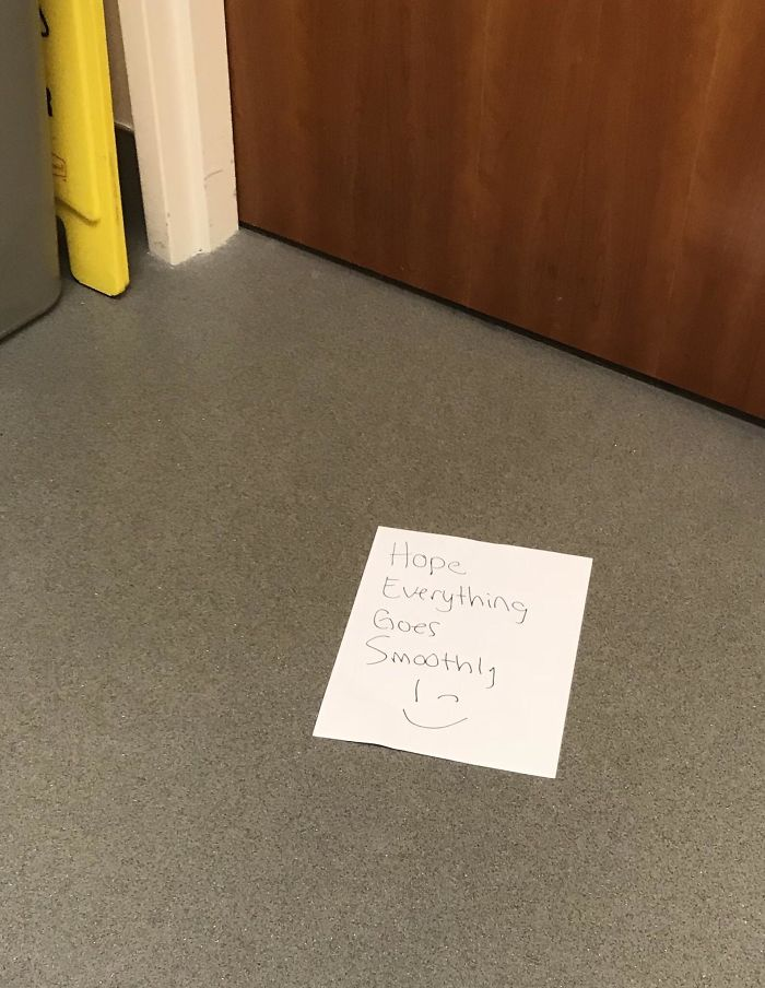 My Boss Slid This Under The Bathroom Door For Me